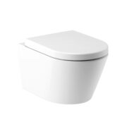 GRACE WALL-MOUNTED TOILET RIMLESS with toilet seat W50.0552.0001.2